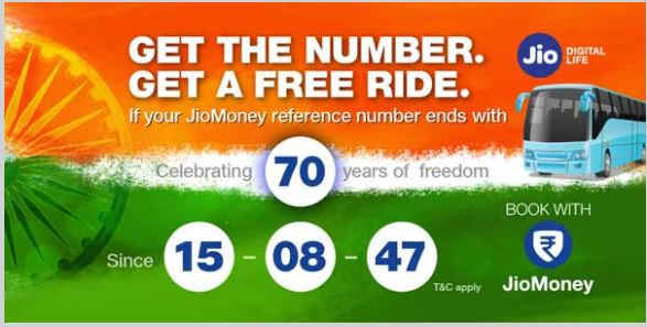 Jio Bus Ticket Offer on 15 August