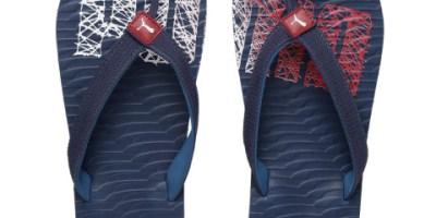 Puma Unisex Navy & Red Miami Fashion II DP Printed Flip-Flops