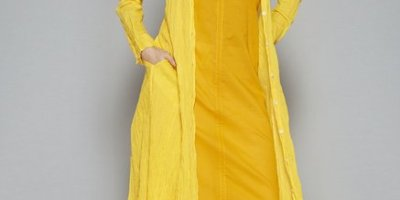 Utsa by Westside Yellow Pure Cotton Kurta Set