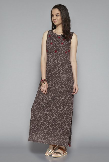 Bombay Paisley by Westside Brown Maxi Dress
