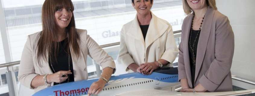 """Images of Thomson Dreamliner """"Living the Dream"""" photoshoot at Glasgow Airport"""