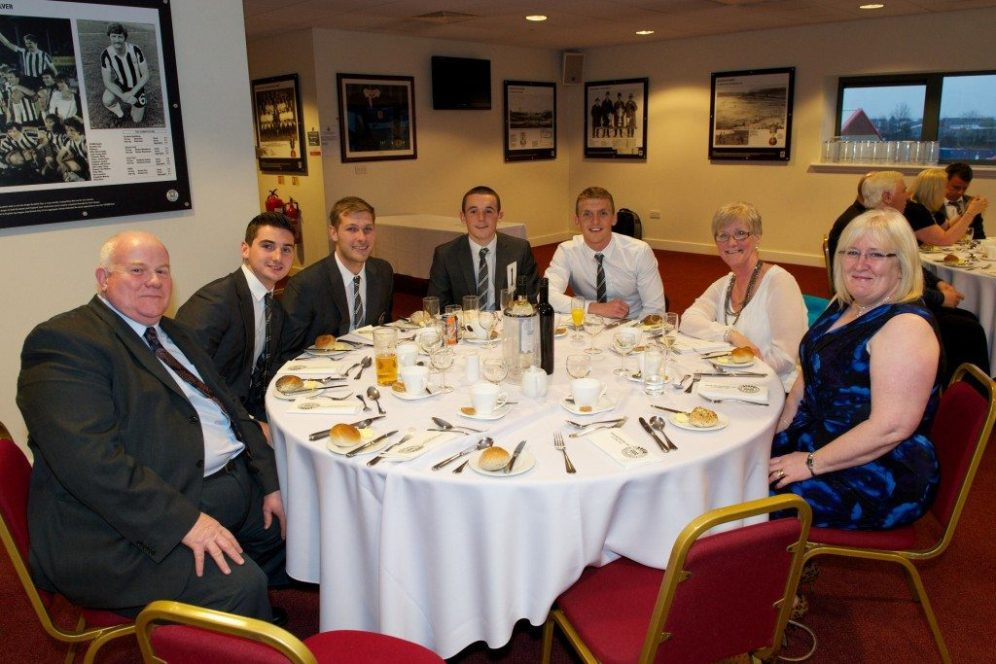 St Mirren civic reception players and councillors at table