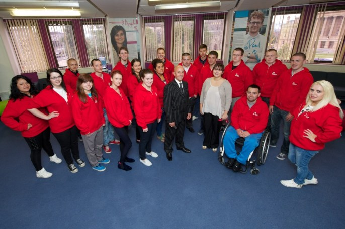 Recruits with Ian Maxwell of Ingliston and Sarah McEwan of Renfrewshire Council