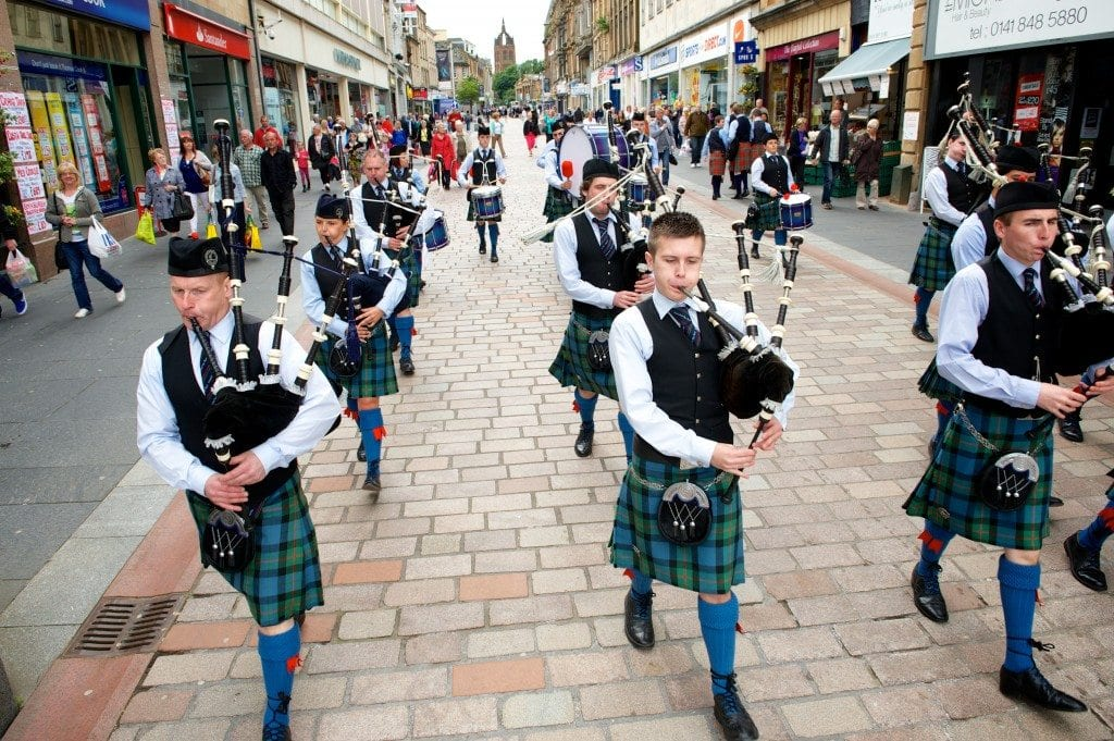 Paisley pipe band competition 2012