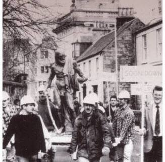 Procession of Diogenes Statue through Paisley