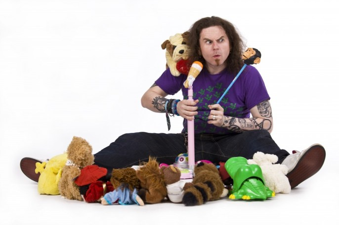 Toybox - who will be providing comedy for kids in the Spiegeltent