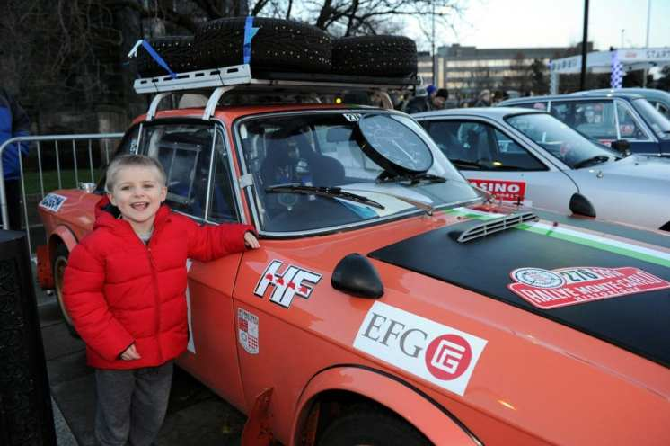Monte Carlo Classic Rally Max Sinclair, four, from Elderslie