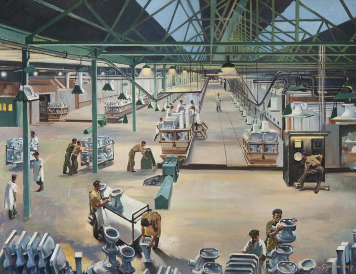 Longpark Pottery Kilmarnock - Painting by Tom Gilfillan