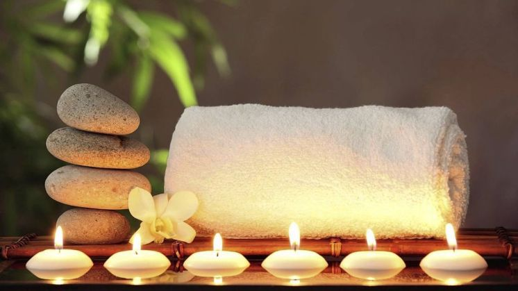 relaxing candles acupuncture paisley
