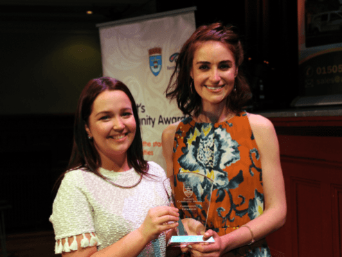 1-Community Volunteer winner Jodie Campbell with sponsor Nicola MacNaughton, Glasgow Airport