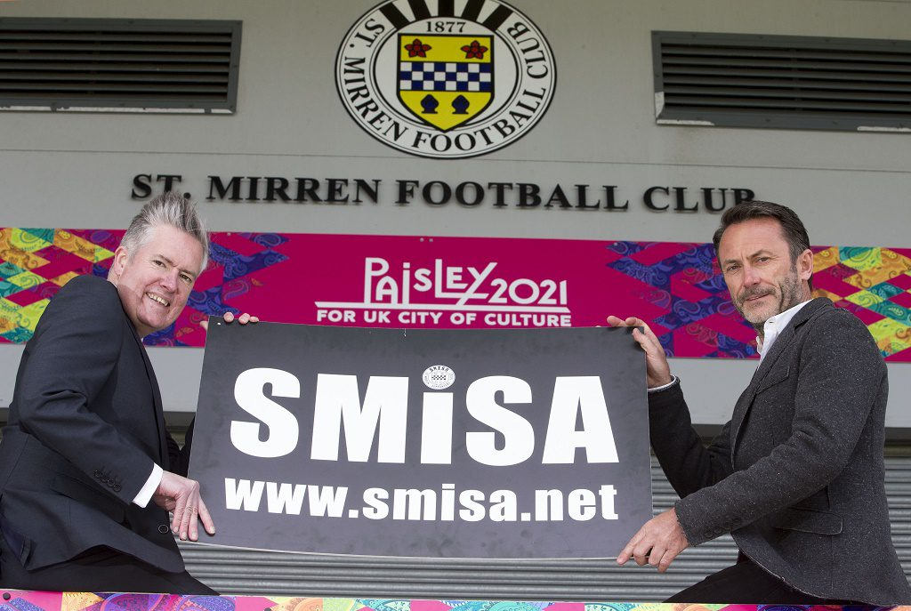 18/04/16... ST MIRREN PARK - PAISLEY. The St Mirren Independent Supporters Association (SMISA) has had a joint offer with ex-Saints director Gordon Scott for the majority shareholding in the club accepted in principle by the selling consortium.  Gordon Scott, George Adam