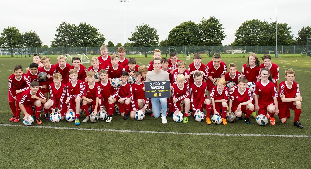 RENFREW HIGH SCHOOL     St. Mirren's Kyle McAllister visits Renfrew High School