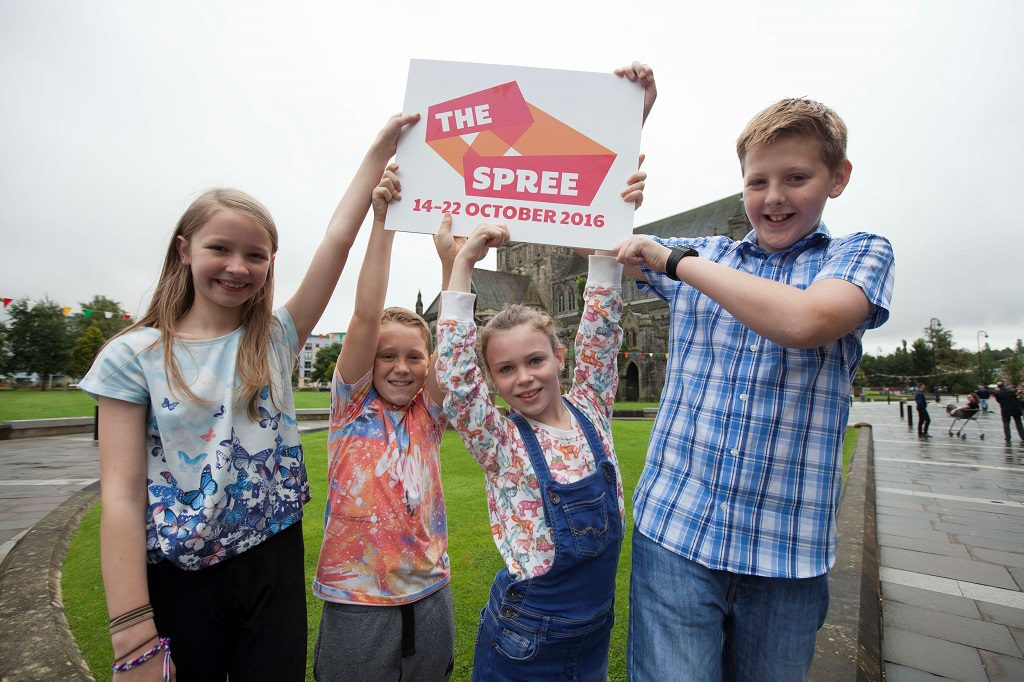 P7 pupils from Williamsburgh Primary School, Paisley - Kirsty Allan (10), Alex Thomson (10), Lily McEwan (10) and Kieran Mathues (11)