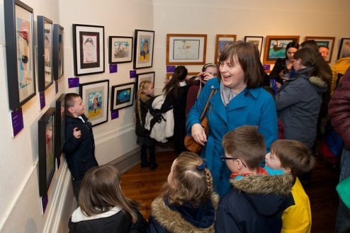 he opening of the Inspired Exhibition was well-attended by family and friends of pupils whose artistic work is on show.