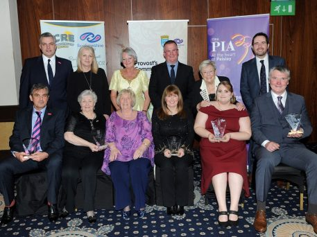 Community Award winners with Provost and award sponsors