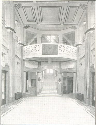 Russell Institute - The Memorial Hall, circa 1927