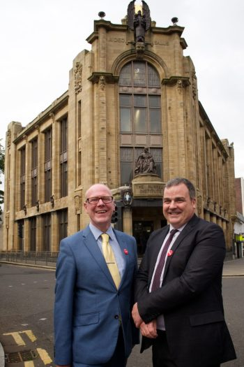 Kevin Stewart MSP with Cllr Iain Nicolson (Leader of Renfrewshire Council)
