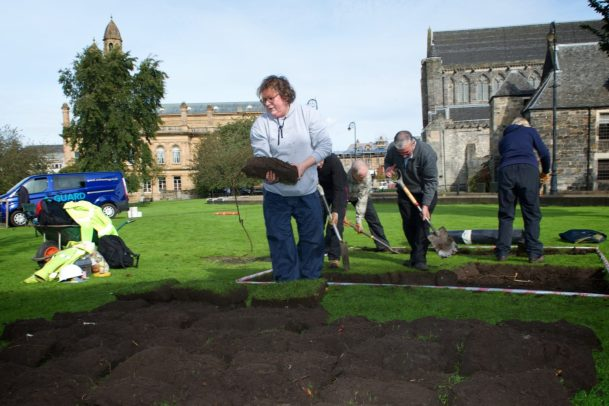 Paisley Abbey archaeological dig 18.9.17