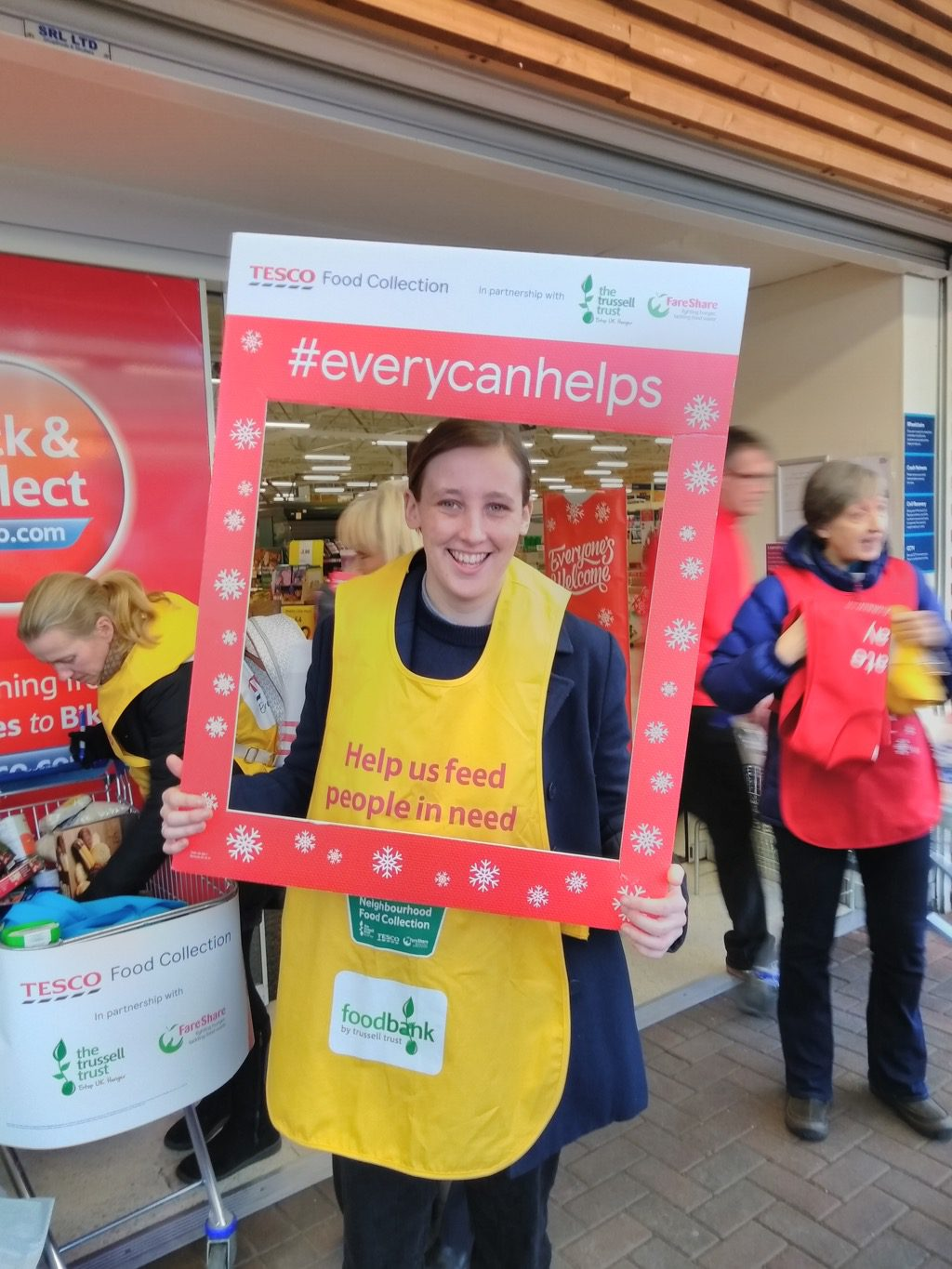 Mhairi Black Backs Tesco Food Bank Collection Paisley Scotland