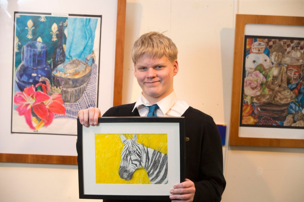 21/01/18… MUSEUM - PAISLEY. Exhibittion showcasing local youngsters art winners Nathan Shankland