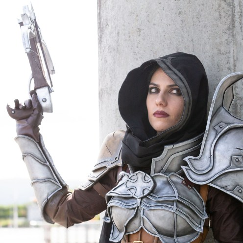 "FREE FIRST USE Pictures Pictured Iris Santos age 28 from Aberdeen as Demon Hunter from the Diablo 3 Game From Macdonald Media on behalf of intu Braehead Shopping Centre To: Press release and free to use photographs for immediate use. Further info from Norman Macdonald on 07958 648814 Thousands turn out for Film and Comic Con event at intu Braehead SHOPPERS must have thought they had walked through the doors of the intu Braehead mall yesterday (Saturday) and landed in a galaxy far, far away. They were met with the sight of characters from all kinds of films, TV shows and comics having a look round the shops. Thousands of sci-fi fans turned out for the Film and Comic Con Glasgow event being held in The Arena at intu Braehead. Many fans were dressed in the costumes of their favourite sci-fi characters and they certainly caught the attention of shoppers in and around the malls. They also flocked to hundreds of stalls set up in The Arena to snap up movie memorabilia and sought-after rare comics. The event continues today (Sunday) when even more fans are expected to come along. Marketing manager for intu Braehead, David Lyon said: ""Where else but intu Braehead would Darth Vader, Stormtroopers, Spiderman and Superman come for a weekend's shopping when they visit planet Earth? ""This Film and Comic Con is one of the most eye-catching events we have at intu Braehead and we look forward to it every year. ""Shoppers just love to see the fans dressed in their amazing costumes and you just never know who you're going to bump into!"" ends Mark F Gibson / Gibson Digital infogibsondigital@gmail.co.uk www.gibsondigital.co.uk All images © Gibson Digital 2018. Free first use only for editorial in connection with the commissioning client's press-released story. All other rights are reserved. Use in any other context is expressly prohibited without prior permission."