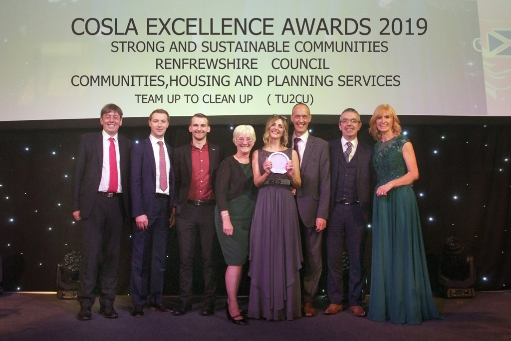 Team Up to Clean Up on stage at COSLA Awards