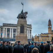 Veterans at the Cenotaph in Paisley