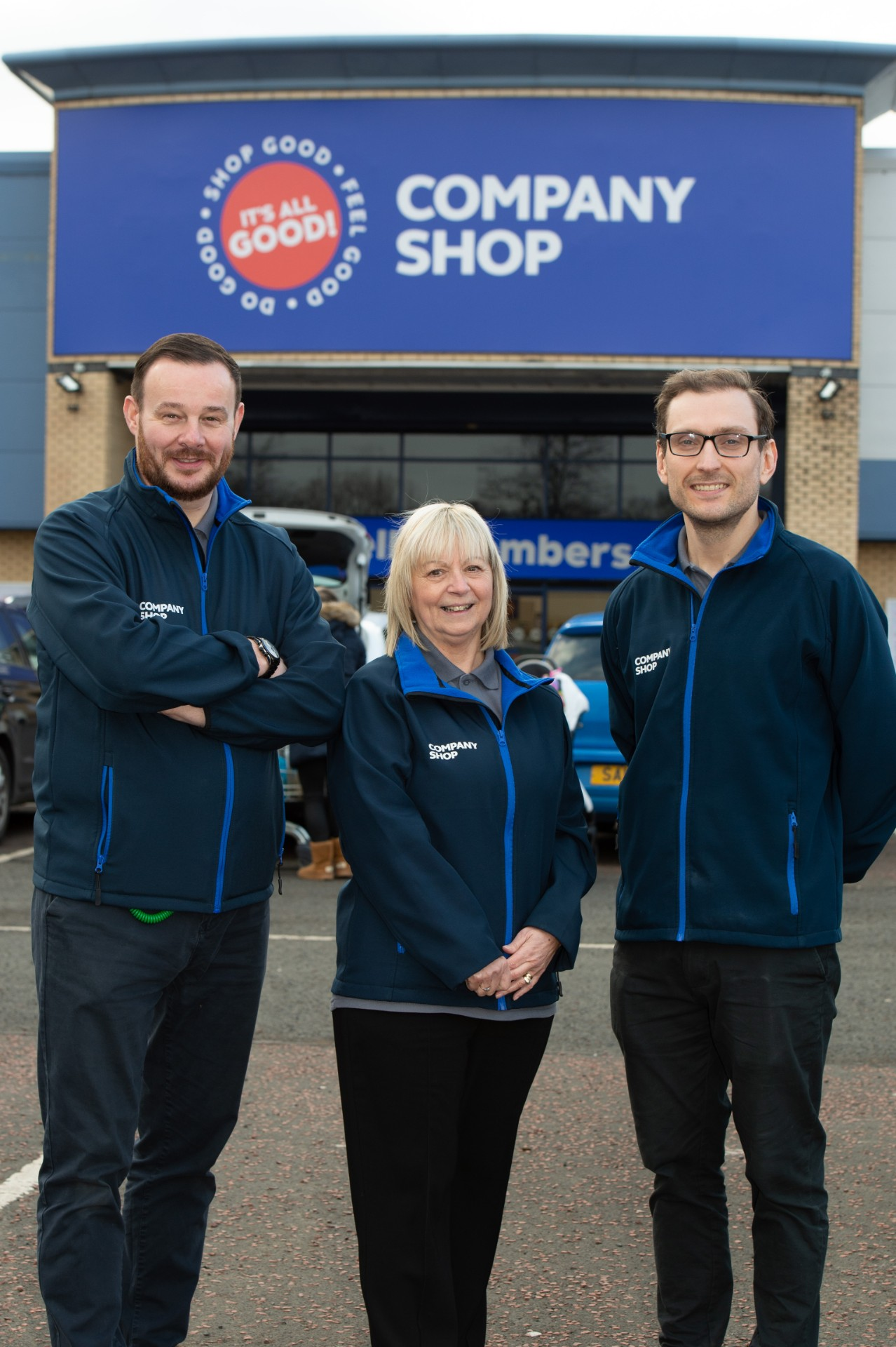 Company Shop staff - Paul Gallagher-Janette OBrien-Jamie Kilpatrick