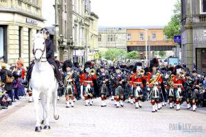 By the Left Quick March, Pipes and Brass, Argyll and Sutherland Highlanders_ 5SCOTS, Paisley, 2013