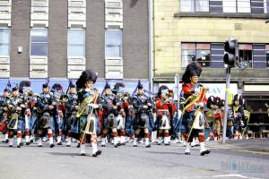 By the Left Turn on Storie St , Argyll and Sutherland Highlanders_ 5SCOTS, Paisley, 2013