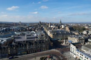 Paisley Town Hall view from top