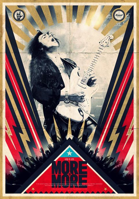 More is More Yngwie Malmsteen three poster artwork