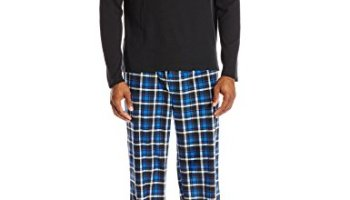IZOD Men s Sueded Microfleece Pant and Black Waffle Henley Pajama Set f09247ee2