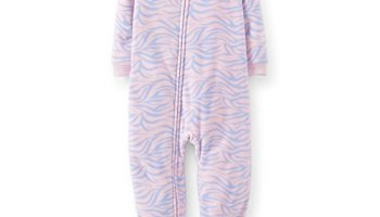 Carter s Baby-girls  1 Pc Fleece Footed Blanket Sleeper Pajamas ... ccb0f5df5