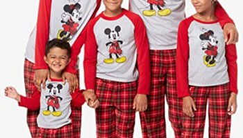 Mickey and Minnie Mouse Christmas Holiday Family Sleepwear Pajamas (Adult  Kid Toddler) d89f024d4
