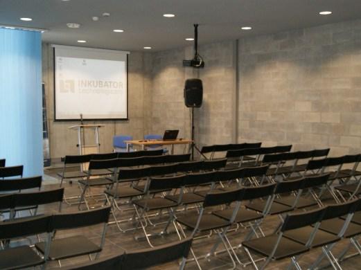 Sala wykładowa w budynku Inkubatora Technologicznego