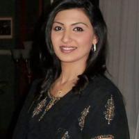 Maheen Rizvi hot black dress