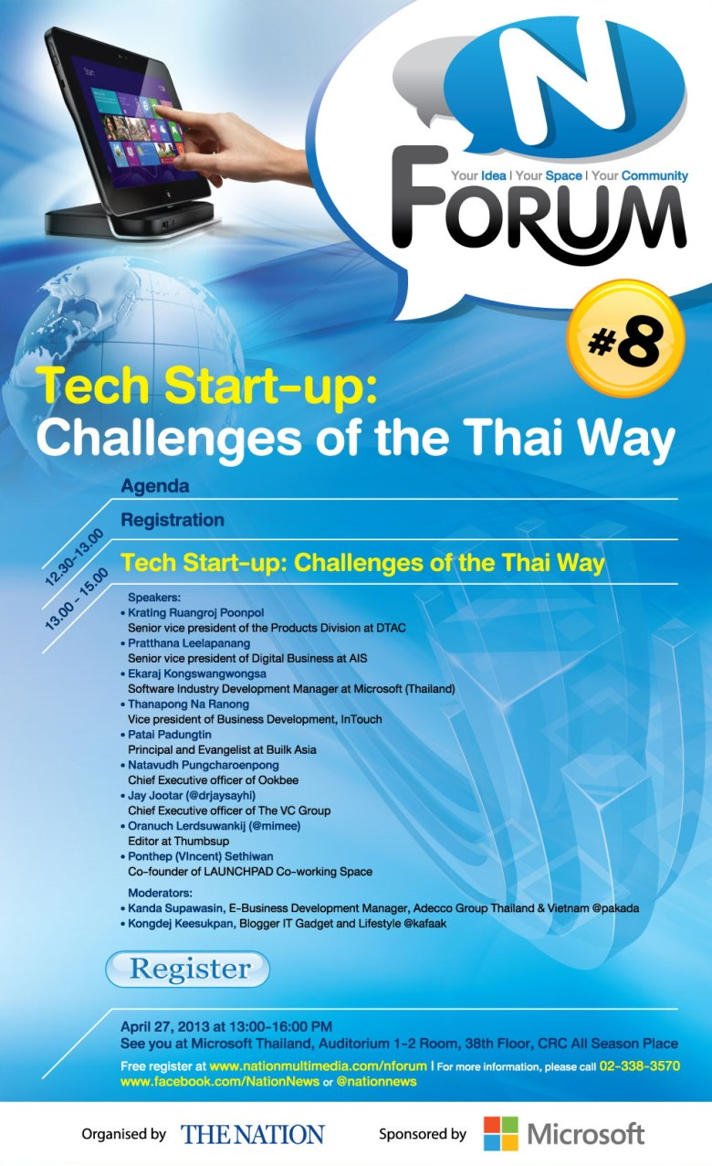 NForum - Tech Start-up : Challenges of the Thai Way