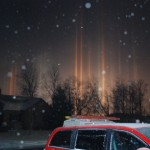 PICS Mystifying 'Light Pillars' Shine in Ohio