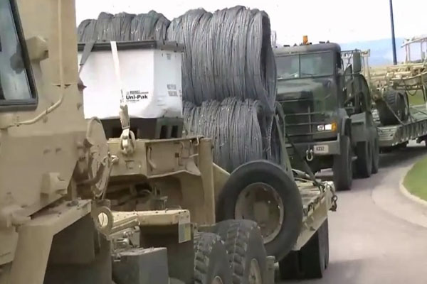 Hundreds Of Miles Of Razor Wire On Convoy Trucks - Will It Be Used To Divide Colorado For Reconquista Or FEMA Camps For Those Who Rebel Against What's Coming
