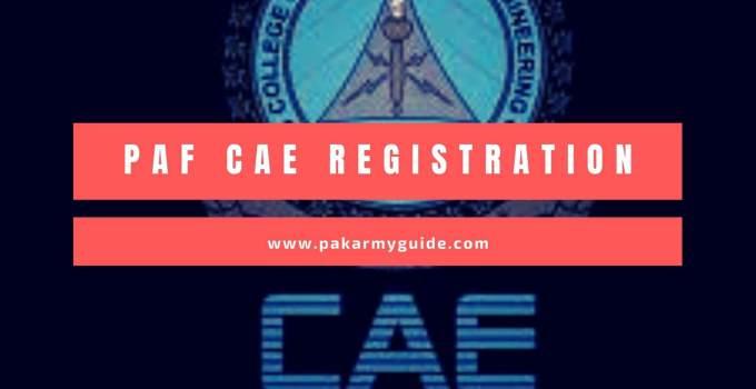 PAF CAE Registration