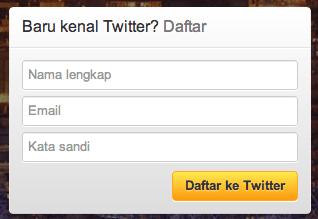 Cara mendaftar dan membuat akun Twitter