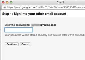 Masukan password akun Yahoo