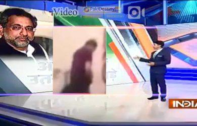 india tv report khaqan abbasi usa secruity checking take off clothes
