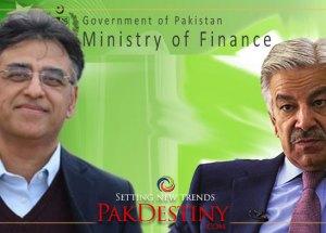 asad umar, khawaja asif and finance ministery of pakistan