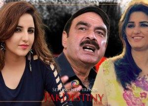 Tik Tok girls --Hareem and Sundal -- find their new prey and he is Railways Minister Sheikh Rashid