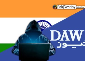 Showing Indian flag on Dawn News shrouded in mystery -- had Indians hacked it's system?