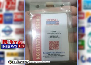 royal news hd lahore reporter journalist drug peddler arrested