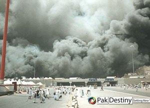 Mina camps.. fire at Hajis camps
