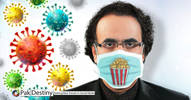 "After 37 fake accounts humiliation, Dr Shahid Masood comes up with another goof-up -- ""popcorns best defence against Covid-19"""